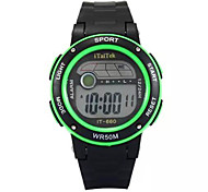 Kinder Sportuhr digital Plastic Band Schwarz
