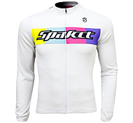 SPAKCT Cycling Tops Men's Breathable / Quick Dry Long Sleeve Bike Stretchy Spandex / 100% Polyester Classic White M / L / XL / XXL / XXXL