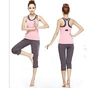 Women Sexy Fashion Sports Casual Running Suit Yoga Sets Gym Suits (Suits =Bra Vest+Gallus+Half Pants)
