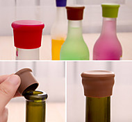 Candy-colored silicone bottle stopper (Random Color)