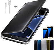 Crystal Mirror Full Body Case for Samsung Galaxy S6/S6 Edge/S6 Edge +/S7/S7 Edge/S7 Edge Plus+ USB Cable