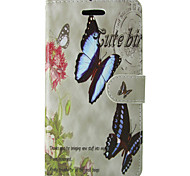 Two Butterflies Design PU Cover for IPhone 6 Iphone6S