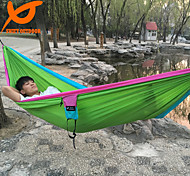 SWIFT Outdoor® Double Camping Hammock Camping Portable Parachute Travel Hammock With Carabiners Nylon Rope