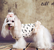 Dog Coat White Dog Clothes Winter Fashion
