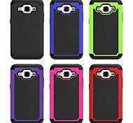 casos completos del cuerpo de plástico de silicona caso de la contraportada del teléfono móvil para Samsung Galaxy núcleo de