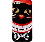 caso padrão material TPU telefone cat dente por iPhone 5 / 5s