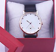 Le feminino de cuir mode casual filles quartz de montre-bracelet femme horloge