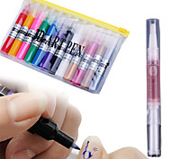 12 colours 3D Art pen Dotted Painting flowers pen drawing pen+1 Cuticle Revitalizer Oil