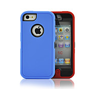The Colorful Robots Pattern PC+TPU 2 In 1 Full Body Case with Crash Proof for iPhone 5C(Assorted Colors)
