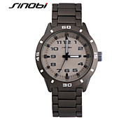 SINOBI Men's Wrist watch Calendar Water Resistant / Water Proof Sport Watch Quartz Alloy Band Grey