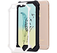 Feather Pattern TPU Phone Bumper Case Drop Resistance for iPhone 6/6S