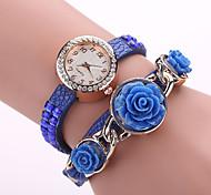 Xu™ Women's Diamonds Rose Quartz Watch