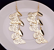 Hot Style Hollow Out Swing Type Water Droplets Earrings Eardrop Butterfly