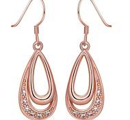 Silver Plated CZ Waterdrop Long Drop Earrings For Women Trendy Dangling Earring Female Fashion Jewelry