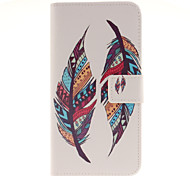 Colored feather Patterns PU Leather Full Body Case with Card Slot for Samsung Galaxy A9/A9000