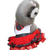 Perros Vestidos Rojo / Morado Ropa para Perro Verano / Primavera/Otoño Lunares Moda