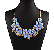 MPL European Diamond Flower Necklace exaggerated resin
