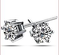 925 Silver Sterling Silver Jewelry Earrings Sample Zircon Stud Earring 1Pair