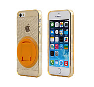 TPU Mobile Phone Shell with Rotating Bracket for iPhone5/5S