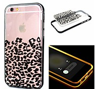 Leopard Print PC+TPU 2 in 1 with LED IC Effect Back Cover for iPhone 6/6S