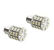 2pcs 1157 4w 60x3528 SMD LED de luz blanca del bulbo de lámpara de freno del coche (12V CC)