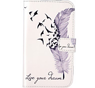 Feather Pattern Embossed PU Leather Case for Galaxy Grand Neo