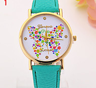 Ladies' Watch Color Butterfly Surface Simple Casual Watch