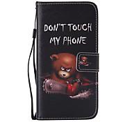 бензопилы медведь шаблон PU кожаный материал телефон случае для Samsung Galaxy s7 / Galaxy s7 края