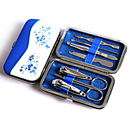 Fashion Blue And White Porcelain Nail Art Tools Set, Nail Clipper Earpick Eyebrow Tweezer Knife Travel Manicure Set