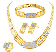 Diamond  Alloy Jewelry Set  Wedding / Party / Daily / Casual 1set