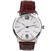 Brown Leather Belt Men's Business Watch Wrist Watch Cool Watch Unique Watch