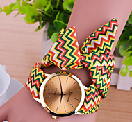 Women Korean Fashion Personality Wavy Fabric Belt Bracelet Watch Cool Watches Unique Watches