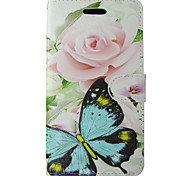Rose Butterfly Design PU Cover for IPhone 6 Iphone6S