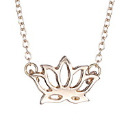 South Korea Fashion Personality Hollow Lotus Necklace