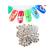 1440pcs/pack  White Colors DIY Crystal Glass Designs Nail Art Rhinestones 3d Decoration Diamond NCNC238