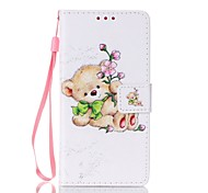 Bear Painted PU Phone Case for Galaxy Grand Prime G530