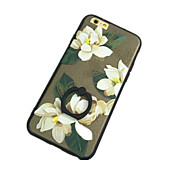 Flower Pattern with Hand Ring Back Case for iPhone 6