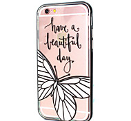 Butterfly Design LED Flicker Back Cover+Bumper Cover for IPhone 6/6S