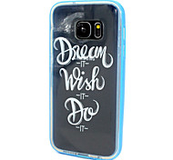 Transparent Painting Design Back Cover+Bumper Cover Case for Samsung Galaxy S7 (Assorted Color)