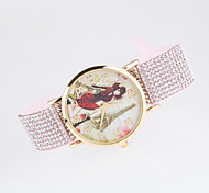 2016 New Arrival Leisure Lady's Wristwatches With The Dial Printing Of Women And Tower Picture Cool Watches Unique Watches Strap Watch