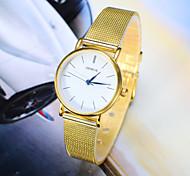 moda feminina assistir ao novo ouro prata cinto de relógio de quartzo