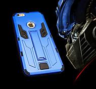 caso duro della copertura protettiva trasformatori di mele con cavalletto per 6s iphone / iPhone 6 (colori assortiti)