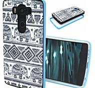 2-in-1 Elephant Pattern TPU Back Cover with PC Bumper Shockproof Soft Case for LG V10/G4 Pro