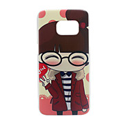Glasses Girl PC Phone Back Cover Case for Galaxy S7