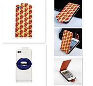 die Zunge der Lippe patten up-down wiederum über PU-Leder Ganzkörper-Case für iPhone 4 / 4s