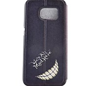 Tooth Painted PU Phone Case for Galaxy S7/S7edge/S7 Plus