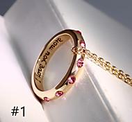 Da donna Collane con ciondolo Lega # 1 # 2 Gioielli Per Matrimonio Feste Quotidiano Casual 1 pezzo