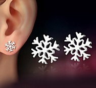 925 Silver Sterling Silver Jewelry Earrings Sample Snow Stud Earring 1Pair