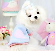 Dog Shirt / T-Shirt Blue / Pink Dog Clothes Winter Fashion