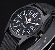 Мужской Армейские часы Наручные часы Кварцевый Материал Группа Черный Белый Коричневый Зеленый
